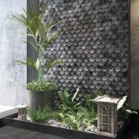 新中式园林景观3D模型【ID:146941452】