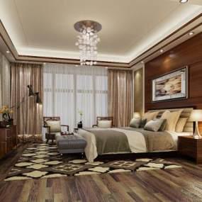 现代卧室3D模型【ID:533070263】