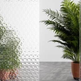 现代风格艺术玻璃3D模型【ID:344379718】