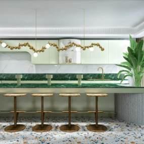 现代厨房3D模型【ID:553009381】