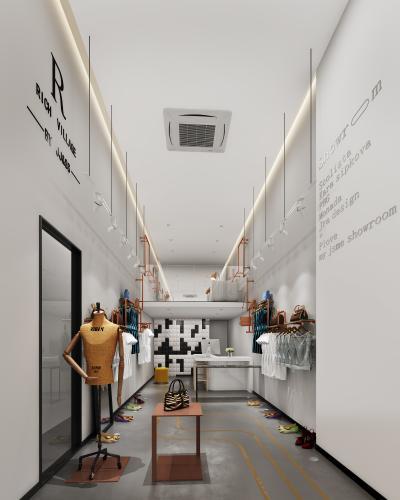 北欧风服装店3D模型【ID:146784031】