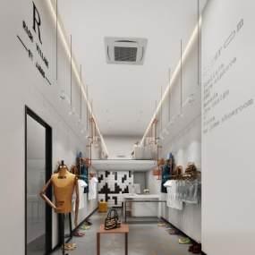 北歐風服裝店3D模型【ID:146784031】