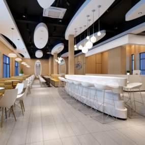 现代餐厅3D模型【ID:635355216】