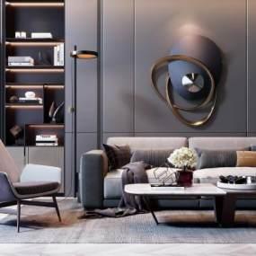 现代沙发组合 3D模型【ID:641400782】
