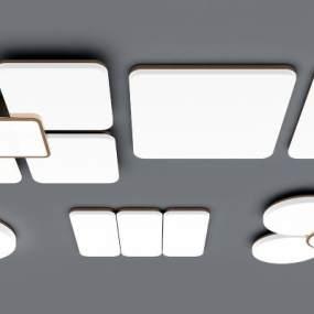 现代吸顶灯组合 3D模型【ID:842011068】