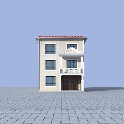 現代農村樓房3D模型【ID:142063337】