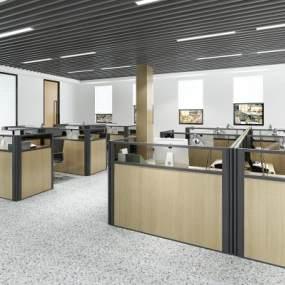 現代公共辦公區3D模型【ID:950957079】
