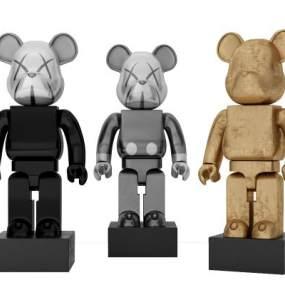 现代雕塑熊摆件3D模型【ID:345933125】