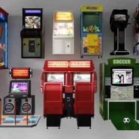 现代游戏机3D模型【ID:433778436】