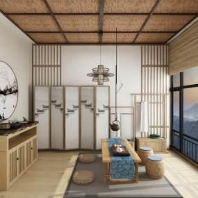日式茶室3D模型【ID:644663190】