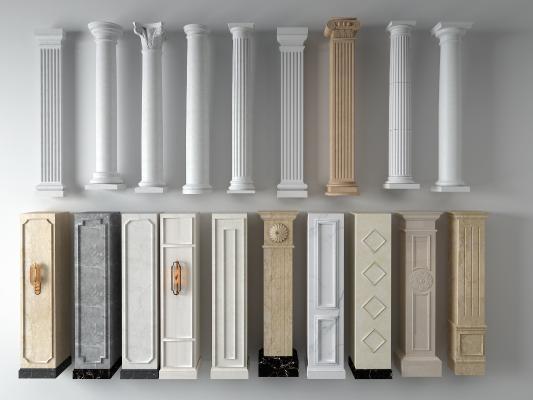 欧式柱子组合