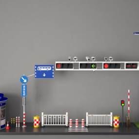 现代交通信号灯3D模型【ID:936209962】