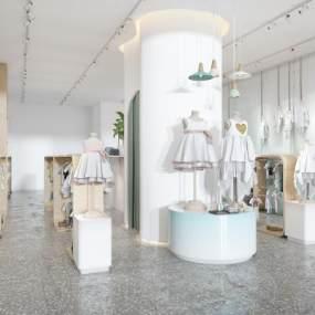 现代儿童服装店3D模型【ID:143899010】