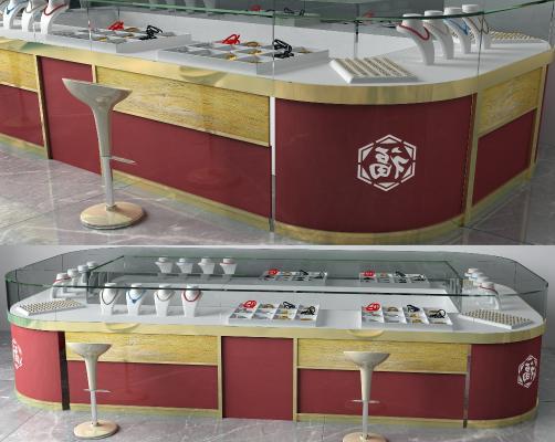 現代珠寶柜3D模型【ID:450701093】