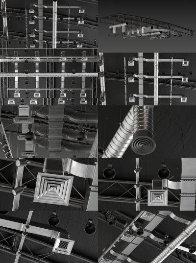 现代风道3D模型【ID:452882390】