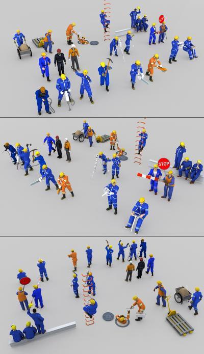 建筑工人3D模型【ID:332793009】