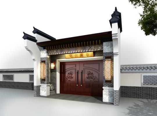 中式門頭3D模型【ID:144459310】