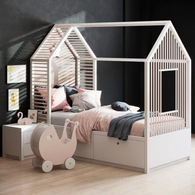 现代儿童床3D模型【ID:845706843】