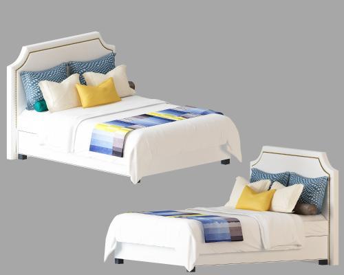 现代儿童床3D模型【ID:835724848】