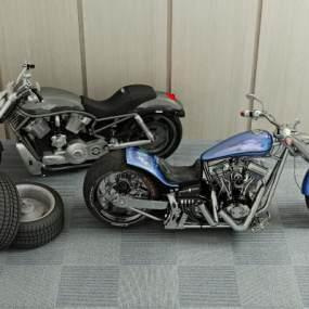 现代摩托车3D模型【ID:435220770】