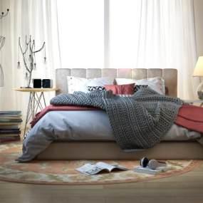 卧室3d模型【ID:533071200】