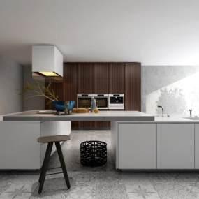 现代厨房3D模型【ID:534786368】