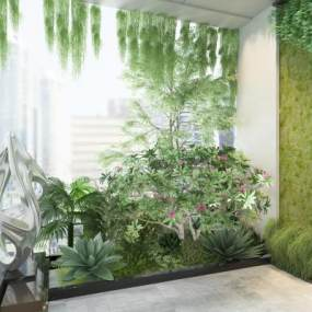 现代植物3D模型【ID:244397881】