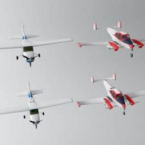 现代飞机3D模型【ID:452874944】