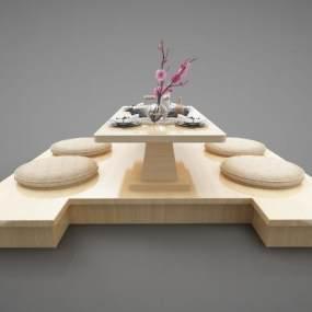 現代風格餐桌3D模型【ID:846939806】