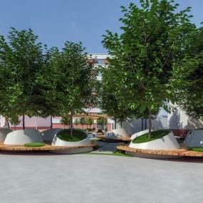 学校花园3D模型【ID:930477629】