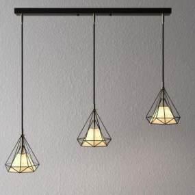 北歐風吊燈3D模型【ID:748816828】