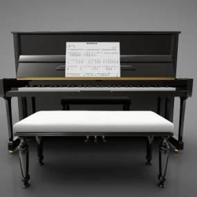 现代风格钢琴3D模型【ID:345879930】