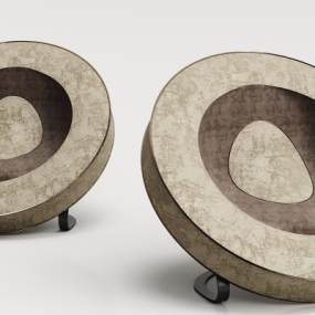 现代绒布单人沙发3D模型【ID:634444452】