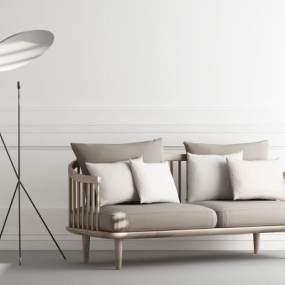 新中式双人沙发3D模型【ID:642546542】