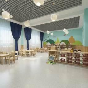 现代幼儿园教室3D模型【ID:950892671】
