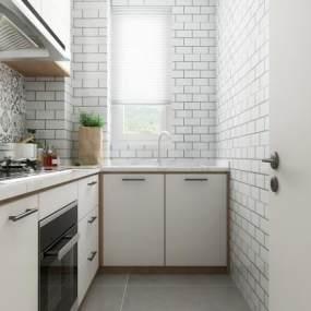 北欧厨房3D模型【ID:535858328】