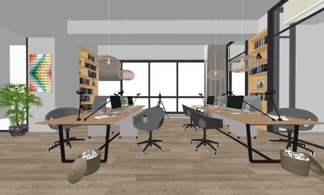 现代办公室SU模型【ID:345952213】