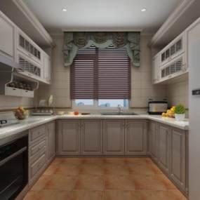 欧式厨房3D模型【ID:533579311】