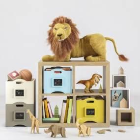 现代儿童玩具3D模型【ID:344460483】