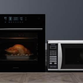 厨具烤箱微波炉3D模型【ID:232169852】