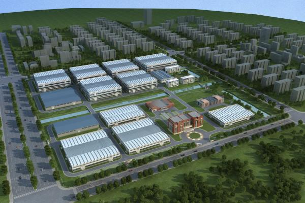 現代工業廠房3D模型【ID:246057388】