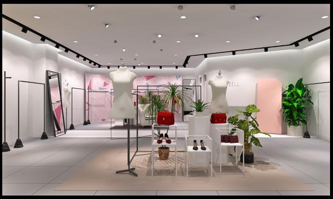 现代服装店3D模型【ID:145836057】