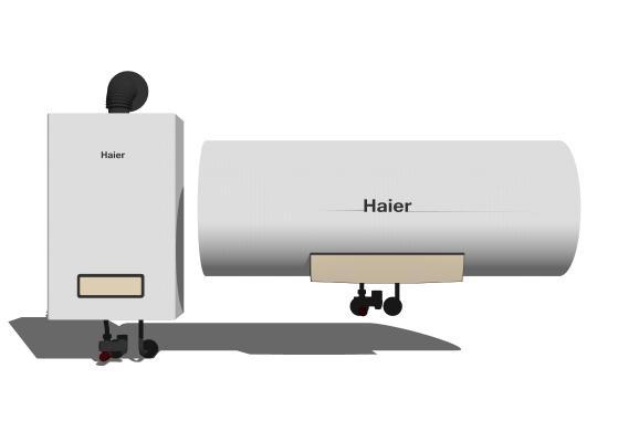 現代熱水器組合SU模型【ID:648627731】