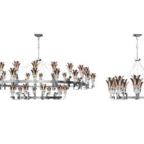 新中式吊灯 3D模型【ID:742345842】