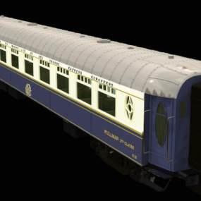 欧式火车车厢3D模型【ID:432684742】