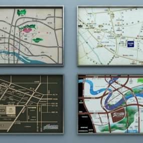 现代售楼部地图沙盘地图区域地图3D模型【ID:936270649】