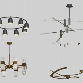 北欧吊灯3D模型【ID:747370814】