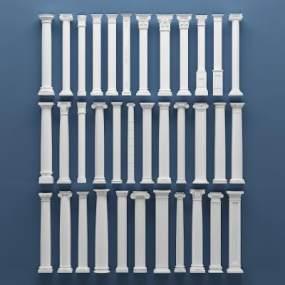 欧式罗马石膏柱子3D模型【ID:331520452】