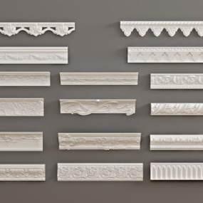 北欧石膏雕刻3D模型【ID:343519439】