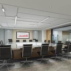 現代商務辦公會議室3D模型【ID:947505120】